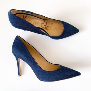 NWT Sam Edelman Blue Denim Hazel Pumps Heels